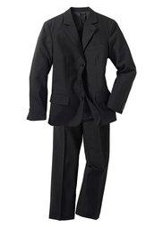 Пиджак + брюки (2 изд.), стандартный (черный) Bonprix