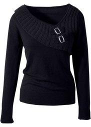 Пуловер (темно-серый) Bonprix