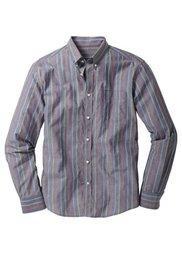 Рубашка (темно-синий в горошек) Bonprix