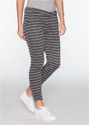 Узорчатые брюки (черный/белый с узором) Bonprix