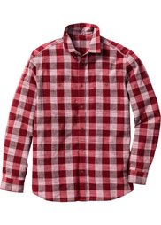 Рубашка Regular Fit с длинным рукавом (ночная синь в клетку) Bonprix