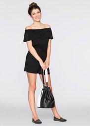 Двухсторонняя сумка-мешок (черный/белый) Bonprix