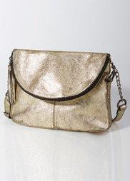 Кожаная сумочка в стиле металлик (серебристый) Bonprix