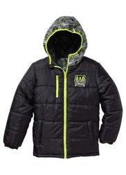 Двухсторонняя стеганая куртка, Размеры  116/122-164/170 (шиферно-серый/бордовый) Bonprix