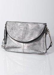 Кожаная сумочка в стиле металлик (золотистый) Bonprix