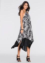 Макси-платье (черный/белый/серый с рисунком) Bonprix