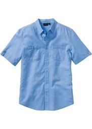 Рубашка Regular Fit из льна и хлопка (абрикосовый) Bonprix