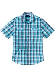 Клетчатая рубашка Regular Fit (мандариново-красный в клетку) Bonprix