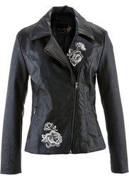 Куртка из искусственной кожи (серо-коричневый) Bonprix