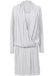 Трикотажное платье с шифоном (сливовый) Bonprix
