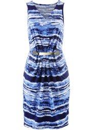 Трикотажное платье (черный/белый/дымчато-серый) Bonprix