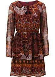 Шифоновое платье (карминно-красный) Bonprix