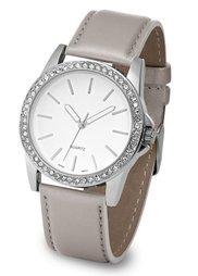 Часы в стиле металлик (кремовый/розово-золотистый) Bonprix