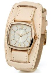 Часы на браслете в двухслойном дизайне (коричневый) Bonprix
