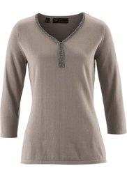 Пуловер из хлопка пима (цвет белой шерсти) Bonprix