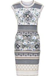 Вязаное платье (лиловый) Bonprix