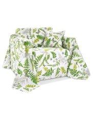 Покрывало Листья (кремовый/зеленый) Bonprix