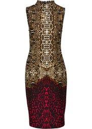 Платье-футляр (леопардовый/ночная синь) Bonprix