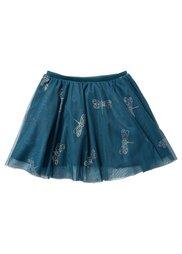 Тюлевая юбка с блестящим принтом, Размеры  80/86-128/134 (фиолетовый с рисунком) Bonprix