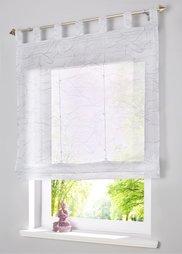 Римская штора Бярне, Шина с лентой велкро (белый/серебристый) Bonprix