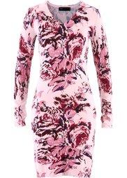 Вязаное платье (светло-серый меланж/небесно-го) Bonprix