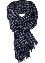 Мужской шарф Каро (серо-коричневый) Bonprix