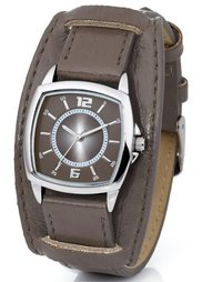 Часы на браслете в двухслойном дизайне (кремовый) Bonprix