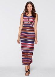 Макси-платье (ночная синь/ярко-розовый флами) Bonprix