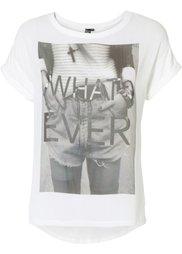 Шифоновая футболка (черный с рисунком) Bonprix