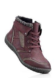 Ботинки на шнурках (черный/серый) Bonprix