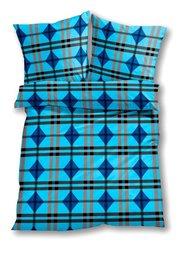 Постельное белье Ленно, линон (синий) Bonprix