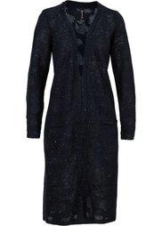 Вязаное пальто (светло-серый меланж) Bonprix