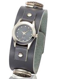 Наручные часы на клепках (коричневый/античное золото) Bonprix