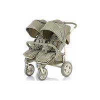 Прогулочная коляска для двойни Cruze DUO, Baby Care, оliva сherker