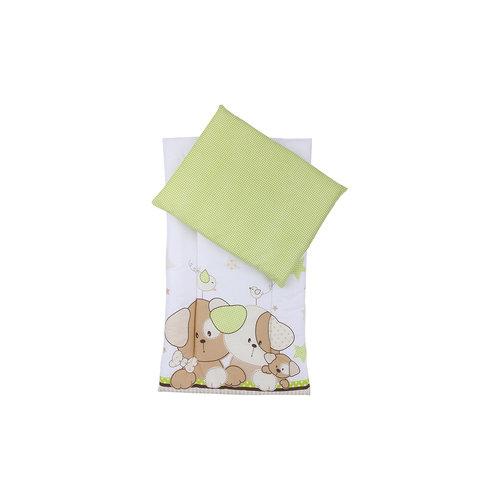 Комплект в коляску 2 пред., матрасик+подушка, Собачки, Leader kids, салатовый