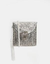 Металлическая сумочка через плечо Park Lane - Серебряный