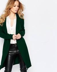 Длинный шерстяной кардиган Y.A.S Evita - Зеленый