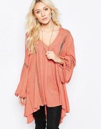 Туника Free People Just 2 Of Us - Soft coral