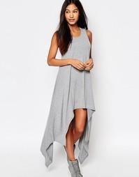Платье с удлиненным сзади подолом Boohoo - Серый меланж