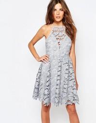 Кружевное платье Keepsake Acoustic - Бледно-серый