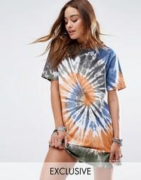 Свободное платье‑футболка с принтом тай-дай Reclaimed Vintage - Мульти