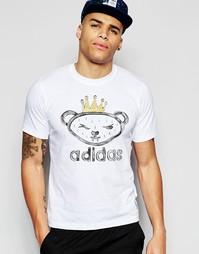 Футболка с принтом adidas Originals X Nigo Artist Bear AJ5203 - Белый