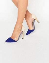 Туфли-лодочки с отделкой Paper Dolls - Синий