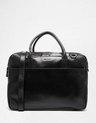 Кожаная сумка для ноутбука с двумя отделениями Royal RepubliQ Explorer