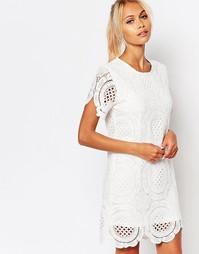 Ажурное платье Fashion Union - Белый