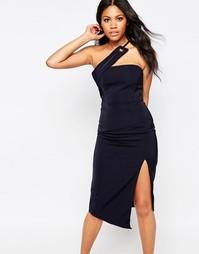 Платье-футляр с разрезами по бокам Glamorous - Синий