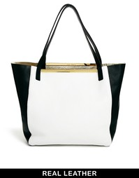 Черно-белая двусторонняя сумка-шоппер Ted Baker - Черно-белый