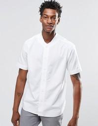 Рубашка с короткими рукавами и бейсбольным воротником YMC - Белый