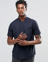 Рубашка с короткими рукавами и бейсбольным воротником YMC