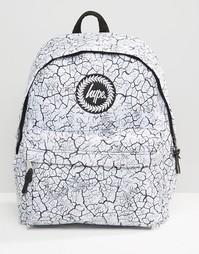 Рюкзак с принтом трещин Hype - Белый